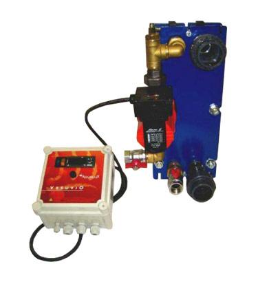 Echangeur de chaleur plaques aqualux vesuvio 105 titane for Chauffage piscine vesuvio