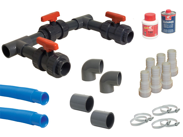Kit by pass complet universal pour pompe chaleur piscine for Kit piscine enterree
