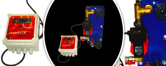 Echangeur de chaleur a plaques Aqualux VESUVIO 105 inox equipe - Echangeur de chaleur Aqualux VESUVIO 105 inox Rapidité de chauffage