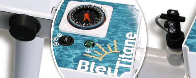 Rechauffeur electrique Bleu Titane RTI-C 3kW - Réchauffeur piscine Bleu Titane Montées en température rapides