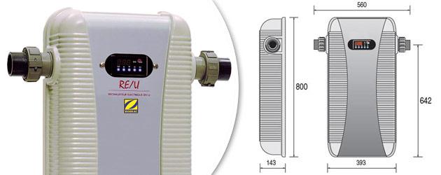 Rechauffeur electrique Zodiac RE-U 21kW triphase - Réchauffeur piscine Zodiac RE-U Robustesse et simplicité d'utilisation