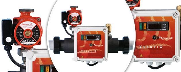 Echangeur de chaleur Aqualux VESUVIO 475 multitubulaire - Echangeur de chaleur Aqualux VESUVIO 475 Conçu pour les endroits exigus
